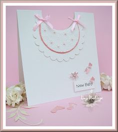 Pink baby bib card