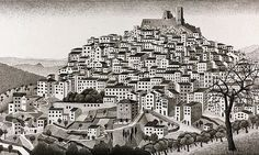 Unseen MC Escher sketch goes on public display for first time   Art and design   The Guardian