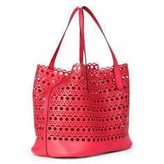 Laser Cut Large Coral Tote. I am in love with this color. Yummy.
