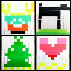Organized Chaos - Paper weaving - could be cool 8-bit looking project.