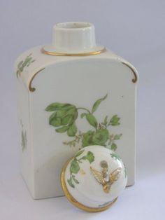Antique-KPM-Berlin-Porcelain-Neuzierat-Tea-Caddy-Jar-Porzellan-Teedose-Dose