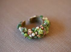 Succulent jewelry - wrist corsage ~ Passion Flower Events
