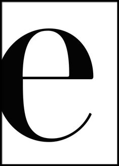 Letter E Poster in the group Prints / Sizes / 50x70cm | 20x28 at Desenio AB (2618)