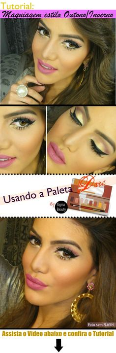 Camila makeup tutorial for Autumn/ Winter - love this pink and gold look.