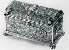 18th Century Silver Filigree Scandinavian / German, attrib. Johannes Muller Bergen Norway. W. 14cms. D. 7cms. H. 8cms.