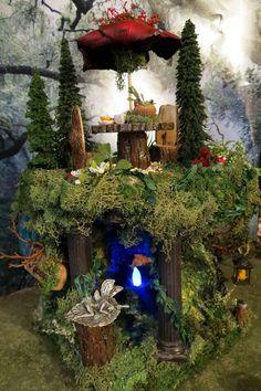 Fairy House Rock Canyon Faery Art Museum by WoodlandFairyVillage, $85.00