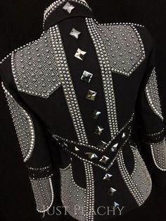 Sweet Magnolia western horse show jacket with Swarovski Pearl