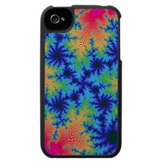 Customizable Tropical Fractal Crackle Speck iPhone 4 Case on sale at www.zazzle.com/wonderart* or click on the picture to take you directly to the product.