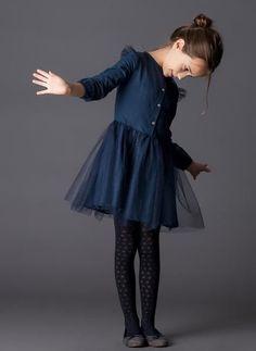 Tocoto Vintage Tulle Kids Dress in Navy - Kids Fashion Vintage Kids Fashion, Little Kid Fashion, Baby Girl Fashion, Fashion Kids, Fashion Clothes, Fashion 2015, Fashion Outfits, Fashion Boots, Trendy Fashion