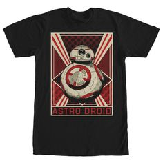 Star Wars The Force Awakens Men's - Astro Droid BB 8 T Shirt #starwars #theforceawakens #fifthsun