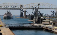 The Soo Locks - Sault Ste Marie Michigan