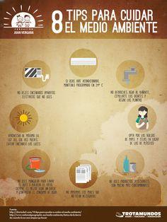 Infografía Tips para cuidar el Medio Ambiente.