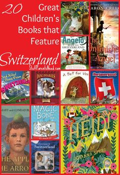 20 children's books that are about Switzerland or that are based in Switzerland. Perfect for an in-depth study of the country or preparing to visit Switzerland! Visit Switzerland, Switzerland Christmas, Swiss National Day, North Europe, Central Europe, Preschool Books, Craft Activities For Kids, Thinking Day, Kids Book Club, Switzerland, Preschool, Travel