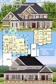 Love this. Staicase could be open and get rid of guest suite and some rooms upstairs and garage.