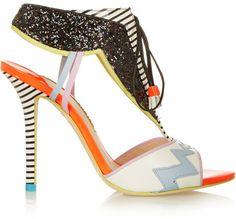 Sophia Webster Leilou glitter-finished leather sandals