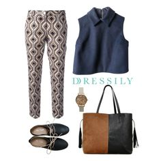 Get comfy and casual with a neutral-colored get-up such as this look! A peterpan collar boxy top and pegged printed pants make this outfit fuss-free and chic all at the same time! :) www.dressi.ly