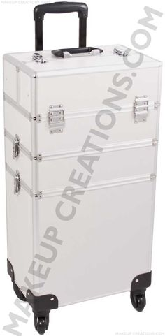 Aluminum Rolling Makeup Case - 3-in-1 Lightweight Design - Silver Smooth - $154.00  #Beauty #Makeup #MakeupArtist