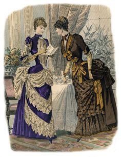 Dinner dresses, 1880's