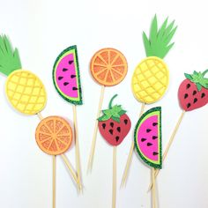 Tutti Fruity Cupcake toppers