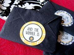 Put an Oscar sticker on your napkins  contemporary  Oscar Napkins