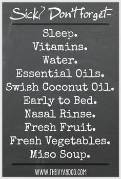 sick, what to do when you are sick, take vitamins, immune boost, essential oils, the ivy and company,