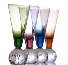 Colorful glassware by Marty Carson