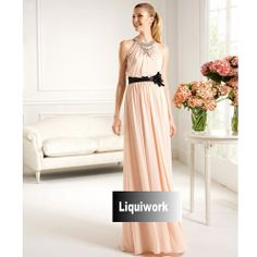 Pink Halter Long Formal Mother of the Bride Prom Ball Evening Dress SKU-1040188