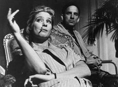 Ingrid Thulin and director Ingmar Bergman during the production of The Silence (1963).