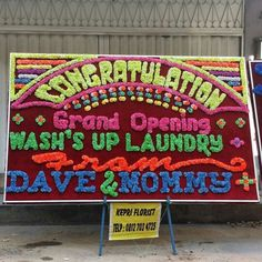 "#DaveWaterlysays, ""Look! Mommy @samevex5 & I sent a congratulory flower board to Wash's Up Laundry on its grand opening day!  (Sat 30 May 15) @washs_up_laundry . We ordered the flower board from @kepriflorist. Great job, guys! "" ♡ #DaversonWaterly (pic taken on Sat30May) (Wash's Up Laundry Nagoya Batam) #batam #indonesia #washsuplaundry #grandopening #flowerboard #papanbunga #congratulations #batamlaundry #laundrybatam #kepriflorist #keprifloristbatam #washsuplaundrybatam…"