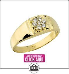 Pequeños Tesoros - Anillos Hombres Alianza De Boda 10 Kt Oro 471/1000 Diamante  ✿ Joyas para hombres especiales - lujo ✿ ▬► Ver oferta: https://comprar.io/goto/B0124KANC8