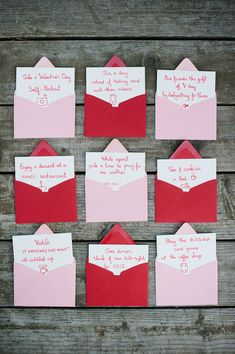 "Date Idea: VDay Advent Calendar ~""This Valentine's countdown will allow for small celebrations as it leads you up to the big day when you can go all out. We created it together and it made me even more excited for February to arrive."""