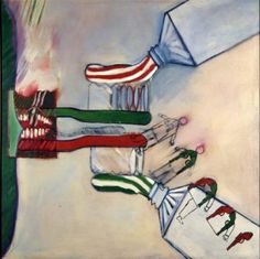 Derek Boshier, So Ad Men Became Depth Man, 1962 Love Art, All Art, Neo Pop, Frida And Diego, Classical Realism, Cultura Pop, Heart Art, Figure Painting, Oil On Canvas
