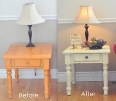 refinishing an end table