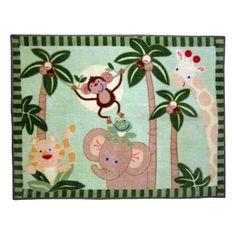 Jungle Babies Rug for Nursery