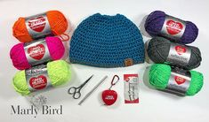 """""""The crochet Night Vision Messy Bun Hat puts Red Hearts unique Reflective yarn to work! Quick to work up and cute to wear, this piece does double duty by keeping you visible while outdoors at night. Perfect for runners! Knitted Hats, Crochet Hats, All Free Crochet, Messy Bun, How To Look Classy, Night Vision, Crochet Patterns, Winter Hats, Survival"""