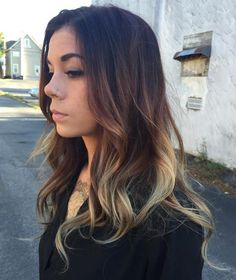 Brown+And+Blonde+Balayage+For+Black+Hair