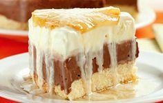 Receita de torta gelada de abacaxi e chocolate »