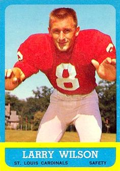 For sale 1963 topps football cards 155 larry wilson rookie saint louis cardinals nfl hall of fame emorys memories. Wilson Basketball, Wilson Football, Football Trading Cards, Football Cards, Baseball Cards, Cardinals Football, Nfl Arizona Cardinals, Canadian Football League, Nfl Football Players