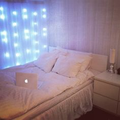 Images For > Fairy Lights Room Dream Rooms, Dream Bedroom, White Bedroom, Peaceful Bedroom, Fairy Lights Room, Shabby, My New Room, Decoration, Room Inspiration