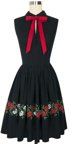 Trashy Diva Frida Dress | Vintage Inspired Dress | Roses Embroidery