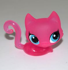 Littlest Pet Shop LPS Animal Clear Collection Pink Cat # 3153 Child Girl Toy