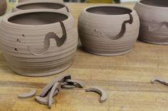 Bridges Pottery Yarn Bowl for Knitting