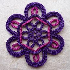Fleur - tatted flower
