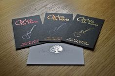 Metallic foil business card