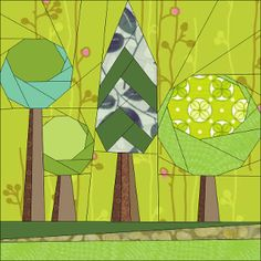 Paper pieced blocks Trees 2