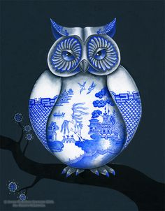 'Blue Willow Owl' by Jayde Hilliard