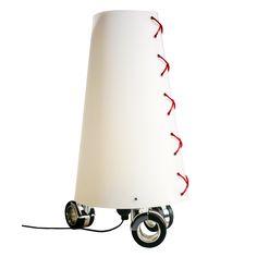 SAM, nylon lamp whit thwe wheels by ZUUUM, design Samuele Santi