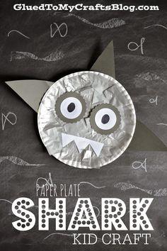 Paper Plate Shark {Kid Craft}