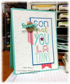 Congratulations Card Graduation, Bada Bing, Card Sketches, Happy Friday, Cardmaking, Stampin Up, Birthday Cards, Paper Crafts, Crafting