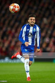 Alex Telles of FC Porto during the UEFA Champions League Quarter Final first leg match between Liverpool and Porto at Anfield on April 2019 in Liverpool, England. Get premium, high resolution news photos at Getty Images Alex Telles, Fc Porto, Uefa Champions League, Balls, Soccer, Football, Hot, Sports, Fashion